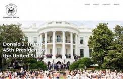 美国总统特朗普正式上线个人网站
